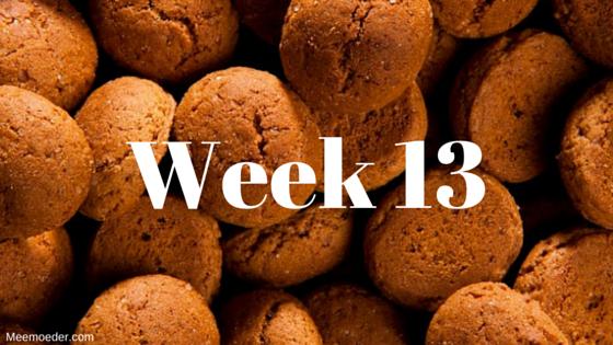 'Week 13' In week 13 lezen we voor het eerst Ouders van Nu, zetten we de kerstboom, gaan we naar Soldaat van Oranje en hebben we last van nesteldrang. Lees het op http://meemoeder.com/week-13/