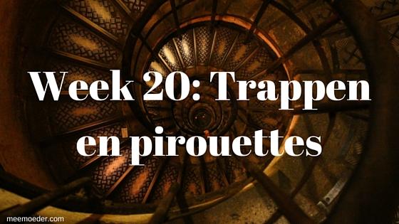 'Week 20: Trappen en pirouettes' In week 20 laat ons kind steeds meer van zich horen en gaan we verder met onze zoektocht naar spullen op de babyuitzetlijst. Lees het snel op http://meemoeder.com/week-20/
