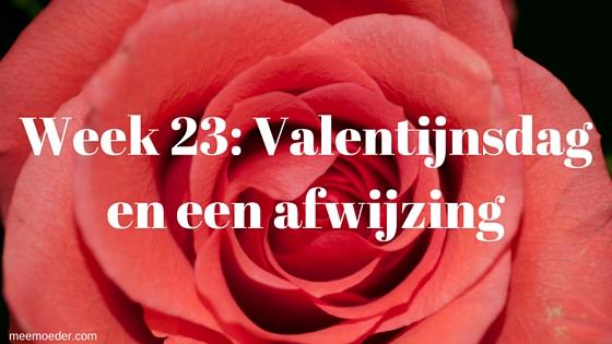 'Week 23: Valentijnsdag en een afwijzing' In week 23 werd ik afgewezen om moeder te zijn van mijn eigen kind, maakten we flinke sprongen met de babyuitzetlijst en genoten we van Valentijnsdag! Lees het snel op http://meemoeder.com/week-23/