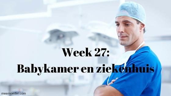 'Week 27: Babykamer en ziekenhuis' Week 27 was een stressweek en bestond uit ziekmelden, ziekhuisbezoek, verzorging, huishoudelijke klussen en werken in de babykamer. Lees het op http://meemoeder.com/week-27/