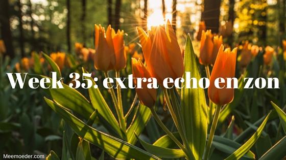'Week 35: extra echo en zon' In week 35 vier ik Bevrijdingsdag, hebben we een extra echo en een afspraak bij de gynaecoloog, ontvangen we het taxatierapport en genieten we van de zon. Lees het op www.meemoeder.com/week-35