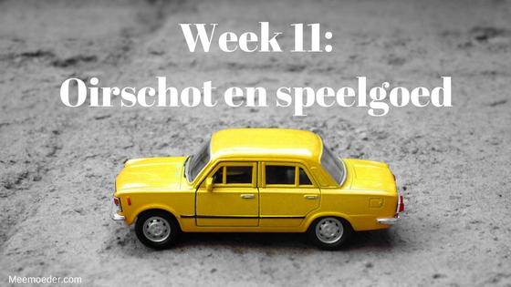 'Week 11: Oirschot en speelgoed' In week 11 bezoeken we Oldenzaal en Oirschot, ziet Sebastiaan allebei zijn oma's voor de eerste keer, wandelen we bij de Oisterwijkse vennen en graven we in dozen vol speelgoed. Lees het op http://meemoeder.com/week-11-oirschot-en-speelgoed/