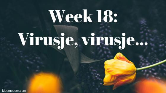 'Week 18: Virusje, virusje…' Deze week heeft Sebastiaan een virus te pakken en geeft hij die door aan zijn mama. Daardoor moet zijn andere mama behoorlijk wat rondrennen. Lees het op http://meemoeder.com/week-18-virusje-virusje/!