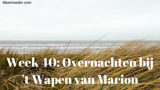 'Week 40: Overnachten bij 't Wapen van Marion' Deze week slaapt en zwemt Sebastiaan bij 't Wapen van Marion in Oostvoorne, zodat hij uitgerust op bezoek kan bij het consultatiebureau. Lees het op http://bit.ly/Wk40WvM