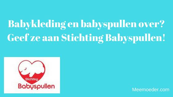 'Babykleding en babyspullen over? Geef ze aan Stichting Babyspullen!' Stichting Babyspullen verzamelt babyspullen en maakt daar babystartpakketten van. Deze pakketten verstrekken ze gratis aan (aanstaande) ouders in NL die het financieel moeilijk hebben. Je verwacht het misschien niet, maar in NL groeit 1 op de 9 kinderen op in armoede. Stichting Babyspullen vindt dat elk kind recht heeft op een goede start. Lees hier hoe ze daar iets aan doen: http://bit.ly/StBabyspullen