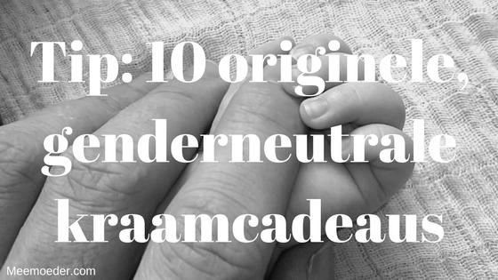 'Tip: 10 originele, genderneutrale kraamcadeaus' Eerder deelde ik al 10 genderneutrale kraamcadeaus met je. Deze blog wordt zo goed gelezen, dat ik nog meer inspiratie wil geven. Hier vind je 10 nieuwe ideeën voor genderneutrale kraamcadeaus: http://bit.ly/Genderneutraal