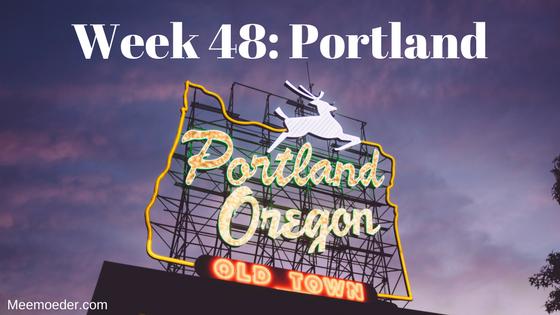 'Week 48: Portland' In week 48 zwaait Sebastiaan voor het eerst en vliegt hij naar Portland. Lees het op http://bit.ly/Wk48Portland