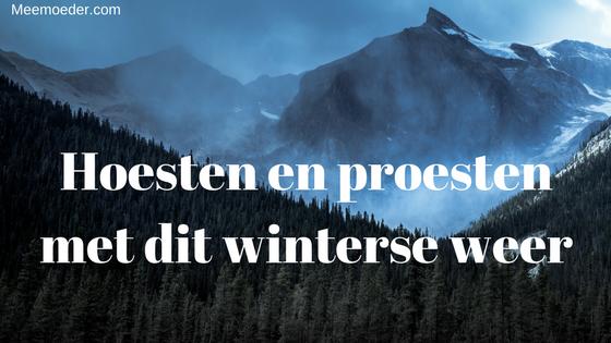 'Hoesten en proesten met dit winterse weer' Deze week hoesten en proesten Sebastiaan en ik flink. We kleden ons goed aan en trotseren toch het winterse weer. Lees het hier: http://bit.ly/Proesten