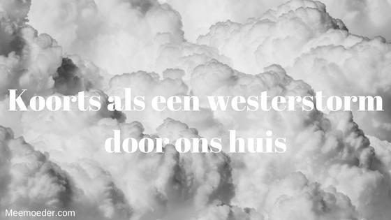 'Koorts als een westerstorm door ons huis' Deze week raast buiten de westerstorm en binnen koorts. Dit weekend krabbelen we weer een beetje overeind. http://bit.ly/Westerstorm