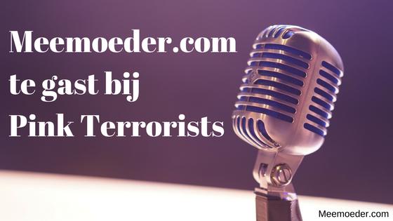 'Meemoeder.com te gast bij radioprogramma Pink Terrorists' Op 24 januari was ik een uur lang te gast bij radioprogramma Pink Terrorists op SALTO. Quirine en Kimberly stelden me allerlei vragen over het meemoederschap en mijn website. In deze blog lees en zie je waar ons gesprek over ging: http://bit.ly/PinkTerrorists