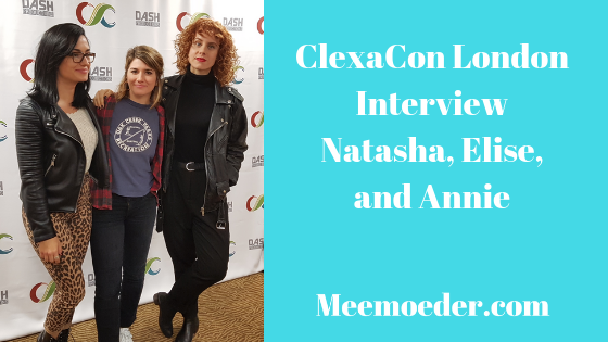 'Natasha Negovanlis, Elise Bauman, and Annie Briggs visited ClexaCon London' Natasha Negovanlis, Elise Bauman, and Annie Briggs visited the press room of ClexaCon London to discuss their Carmilla characters, queer representation, and stereotyping, among other things. I have uploaded the video of this interview during the con but I had not had the time yet to write down the interview. So, here it is: http://bit.ly/NEACCUK