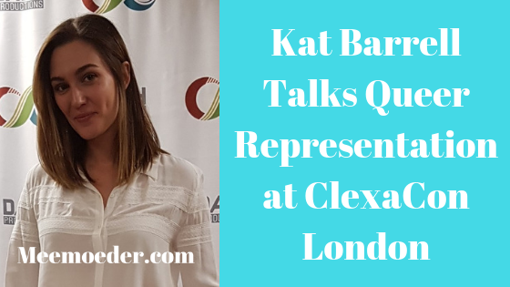 'Kat Barrell Talks Queer Representation at ClexaCon London' I finally had time to write down the interview we had at the press room during ClexaCon London. She mainly discussed queer representation and mental health. Read it here: http://bit.ly/KatBarrellCL18