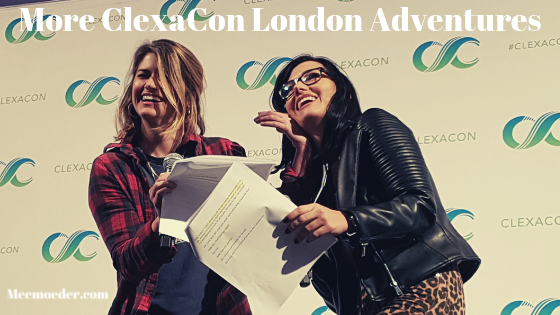 'More ClexaCon London Adventures' In my final ClexaCon London blog post, you will read more about the interviews I had and the panel by Natasha, Elise, Annie, and Dana. I also tell you about an unexpected turn to my day. Read it here: http://bit.ly/CCUKSat18