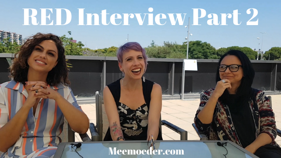 'RED Webseries Interview LFF2019 [Part 2]' The most magical moment of Love Fan Fest 2019 for me was the interview I had with Ana Paula Lima, Luciana Bollina, and Germana Belo of RED. In the second half of this interview, we discussed season four and five, the shooting style of RED, and how they do not pick sides when it comes to their characters' relationship. Or, they might: http://bit.ly/RED2LFF