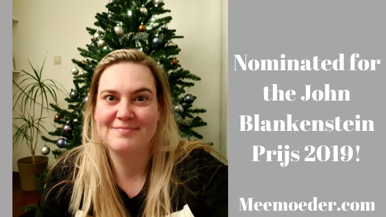'I've been nominated for an LGBT+ award in The Hague!' I'm so happy I can finally share it with you! I've been nominated for the John Blankenstein Prijs 2019 with Meemoeder.com! This is an LGBT+ award in my city of The Hague. It's such an honor, and I would like to thank everyone who has recommended me as a candidate. Here, I explain what the award means, what the process is like, and what being nominated means to me: http://bit.ly/JohnBlankenstein2019EN