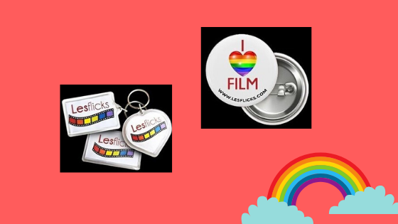 'Lesflicks Giveaway' Want to win fun merch in a Lesflicks giveaway? Meemoeder.com hosts a queer giveaway on Instagram, where you can win a merch package. It consists of two keyrings, one magnet, and one button. Lesflicks is giving away 3 packages. Here are all the rules.