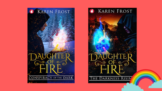 'Giveaway Daughter of Fire by Karen Frost' Want to win two fantasy novels written by Karen Frost? Meemoeder.com hosts a queer giveaway on Instagram, where you can win two e-books: Daughter of Fire: Conspiracy of the Dark and Daughter of Fire: The Darkness Rising. Here are all the rules.
